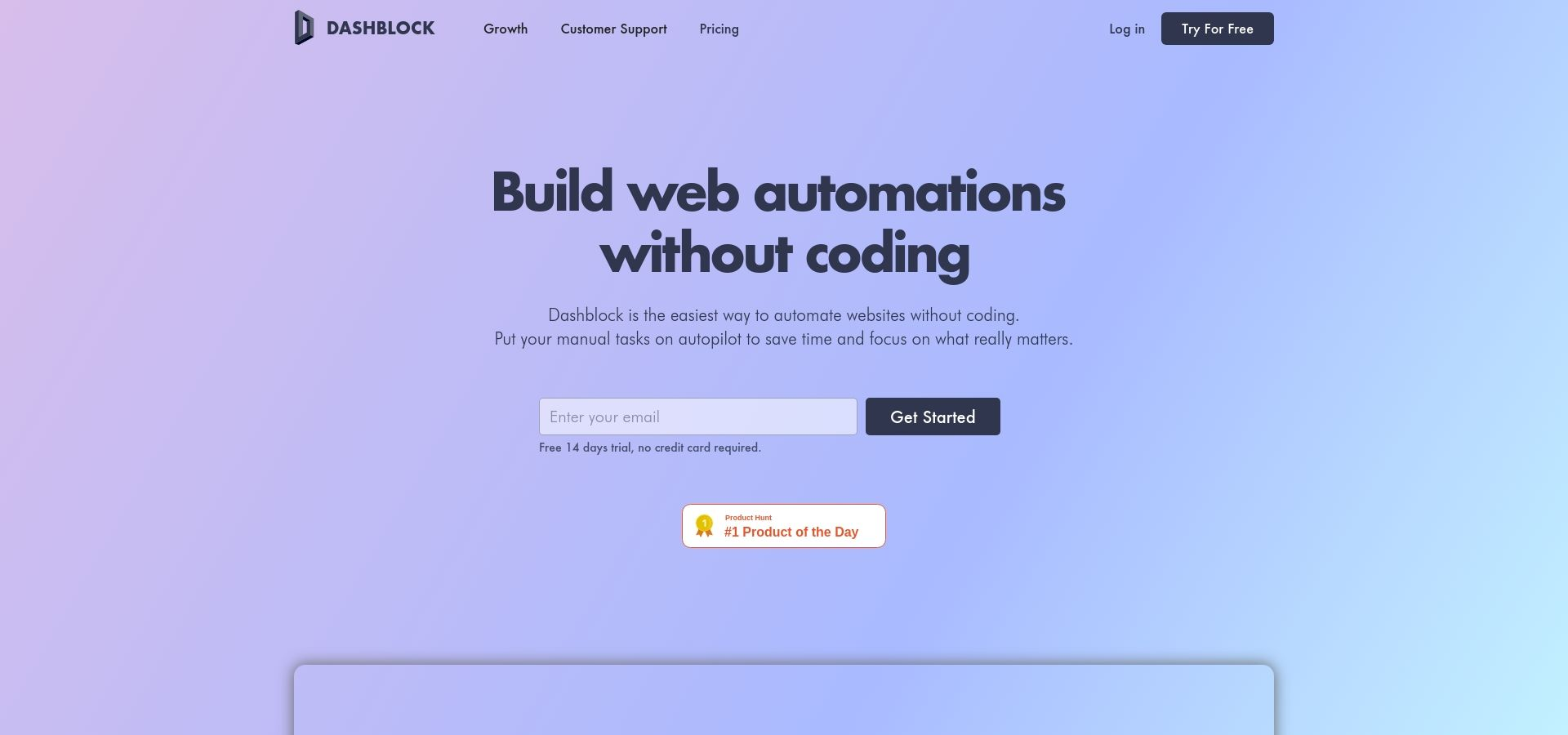 Dashblock - Build web automations without coding