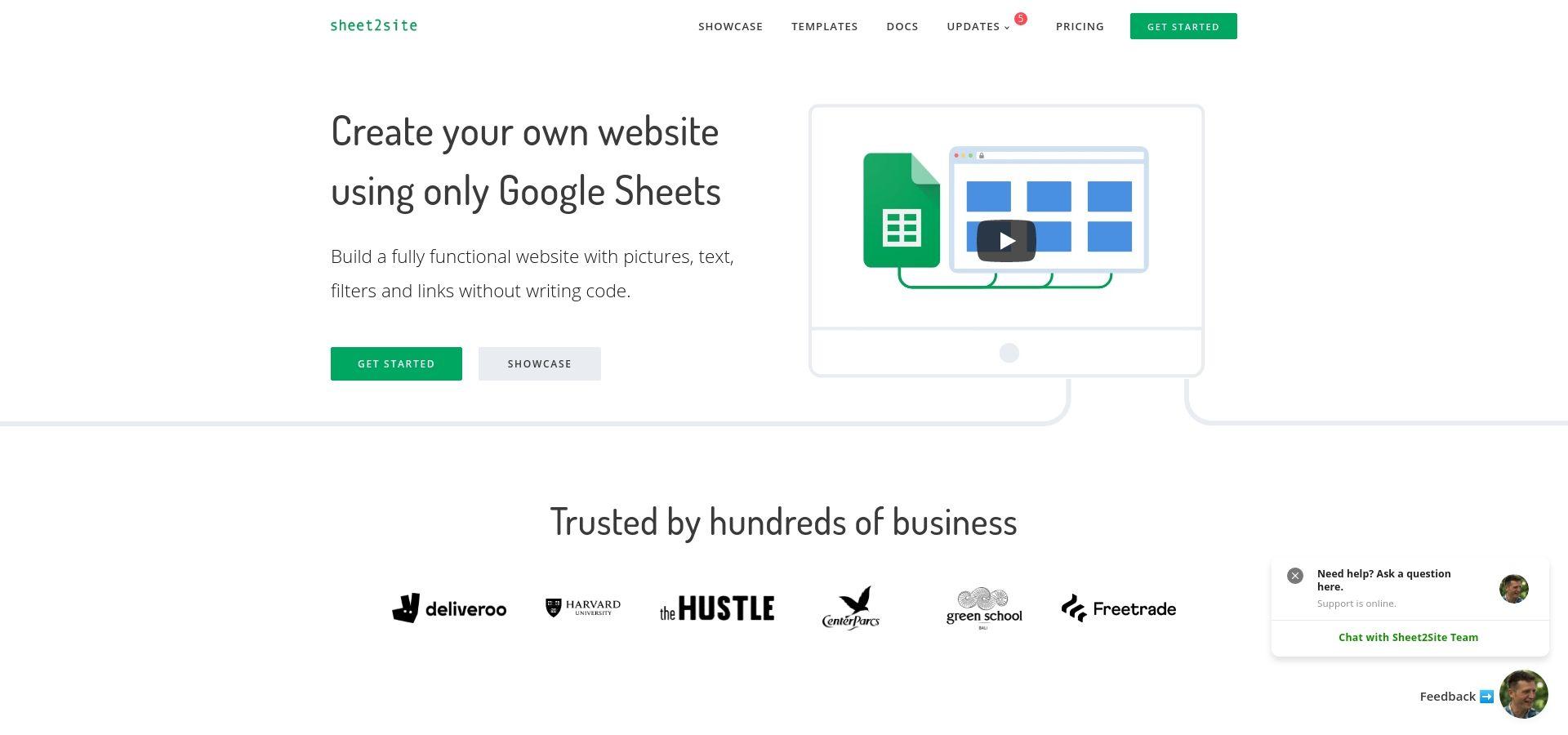 Sheet2Site: Website Builder Using Google Sheets
