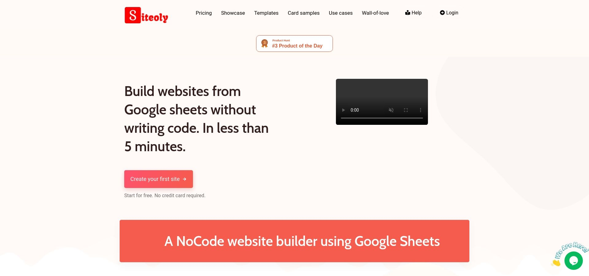 Siteoly - Build websites from Google Sheets