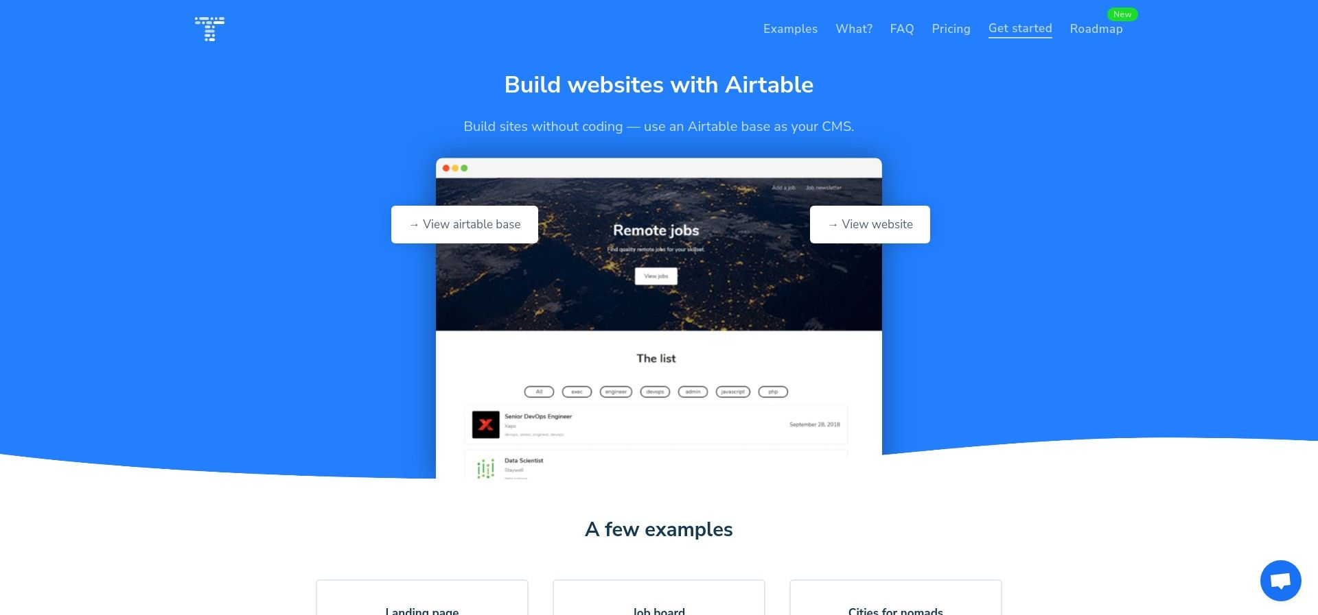 Table2Site: Convert your airtable base to a website
