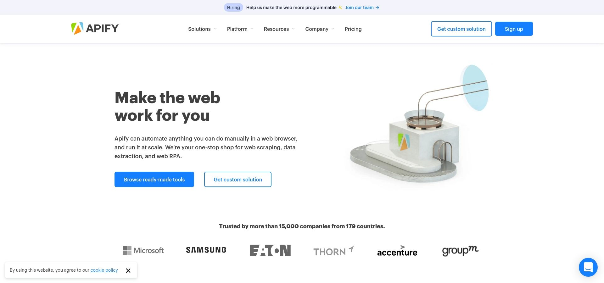 Web Scraping, Data Extraction and Automation · Apify