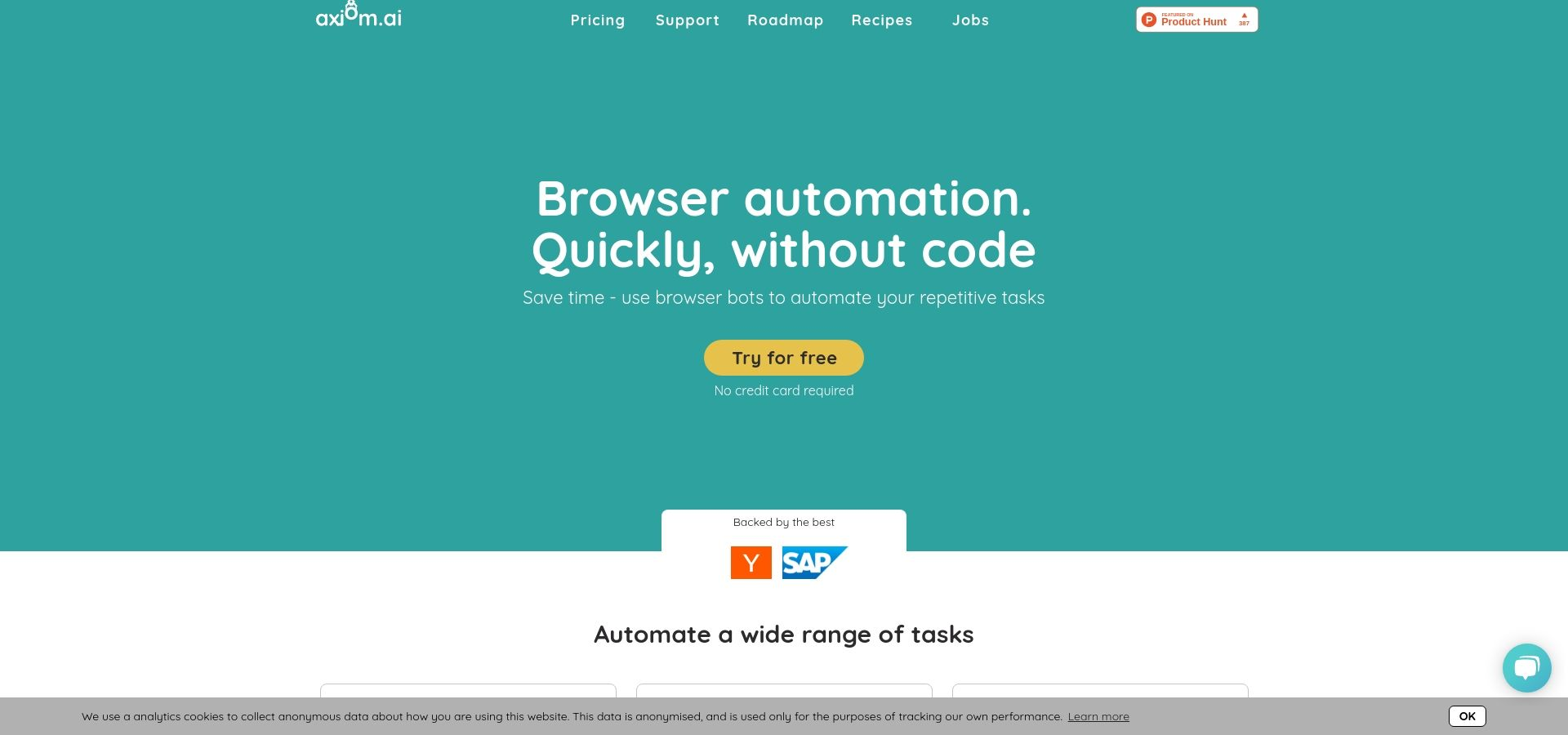 Axiom - create browser bots quickly without code