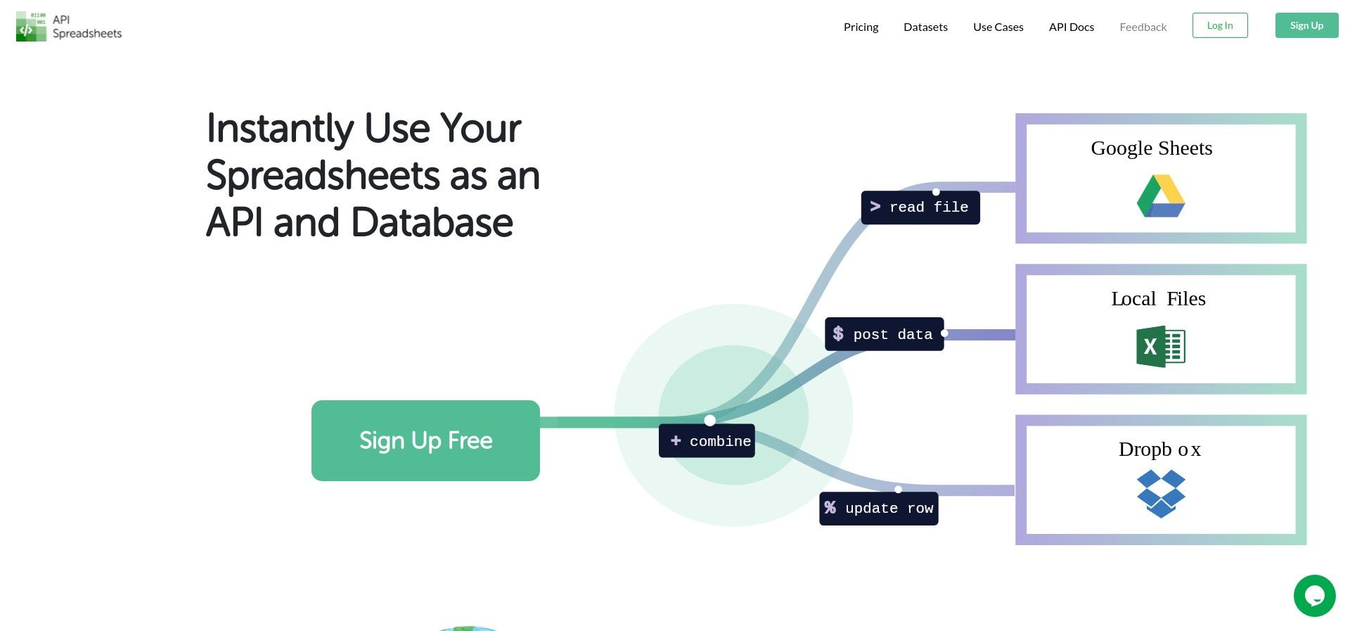 API Spreadsheets - Instantly use Your Spreadsheets as an API and Database