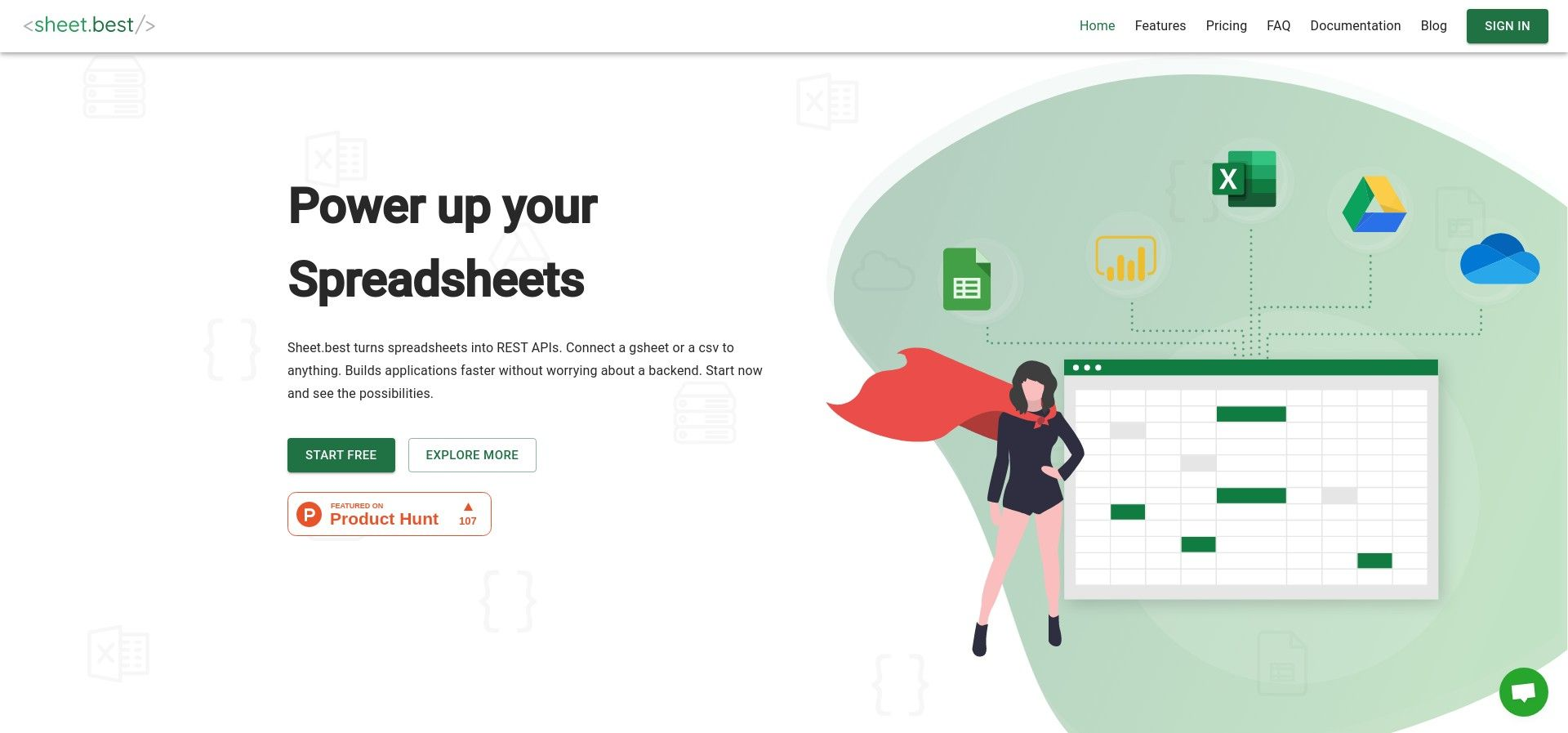 sheet.best · Turn your google sheets into a REST API