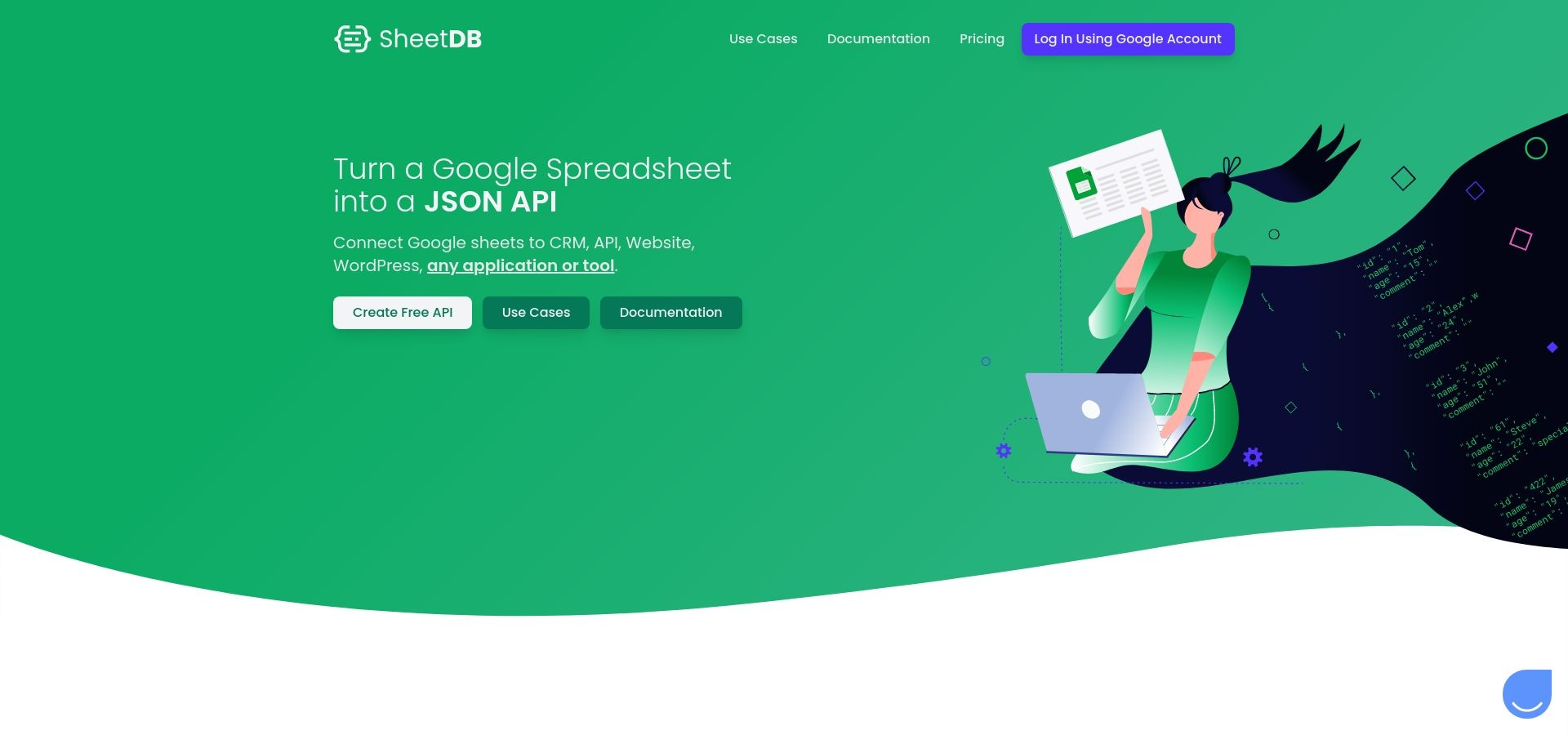 Google Sheets REST API, connect Google Spreadsheet with your site