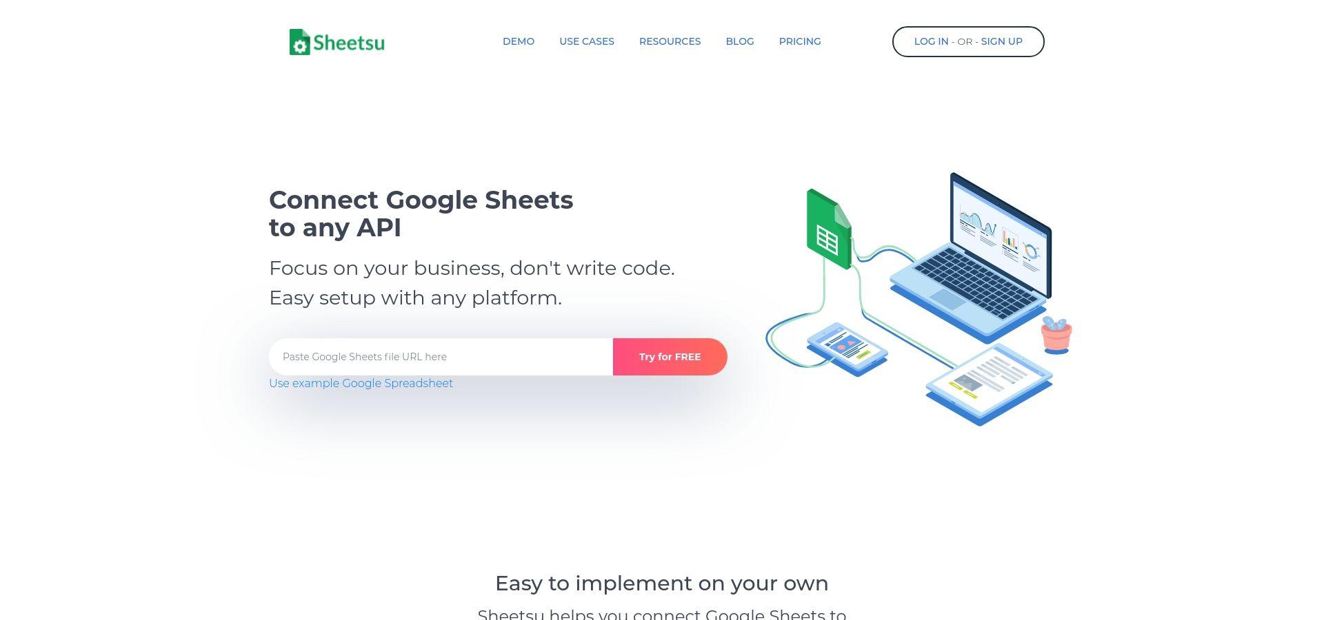 Google Sheets API, Turn Google Spreadsheet Into API – Sheetsu